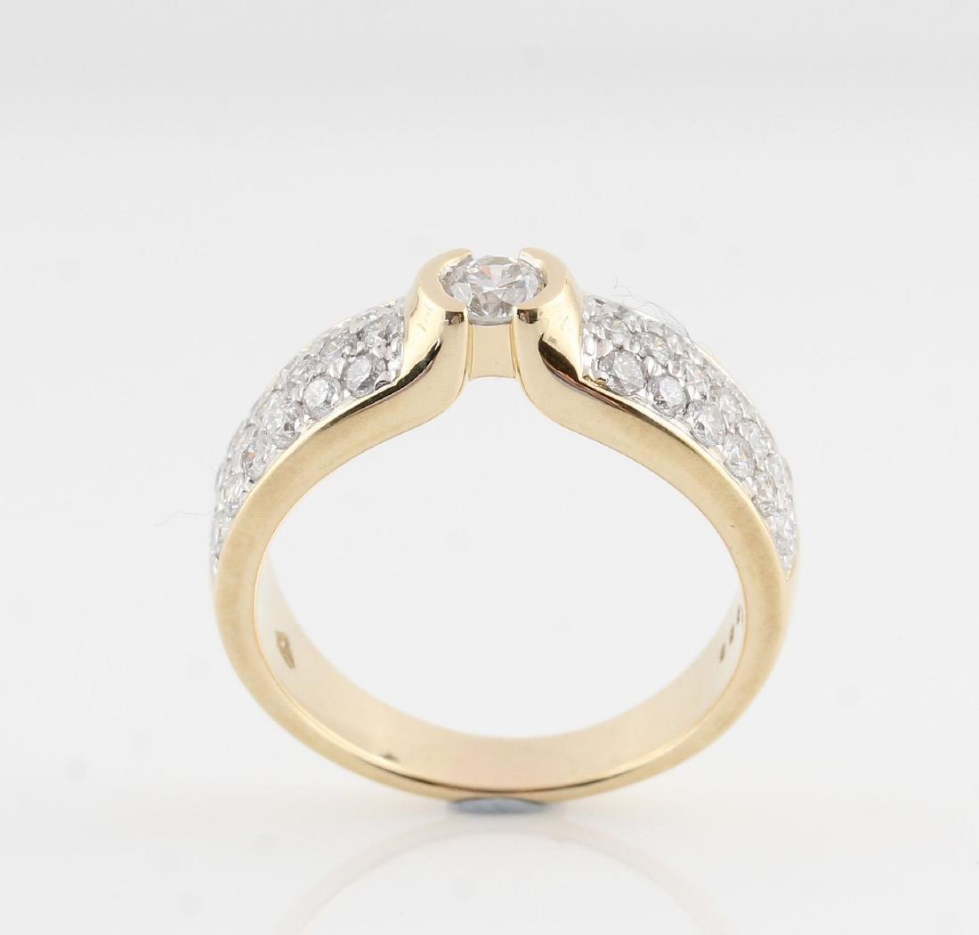 14kt yellow gold diamond ring 0.98ct - 3