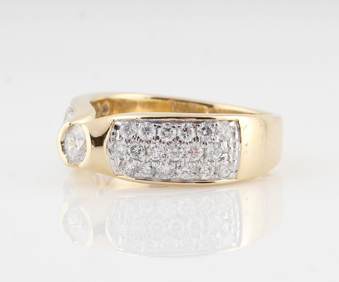 14kt yellow gold diamond ring 0.98ct - 4