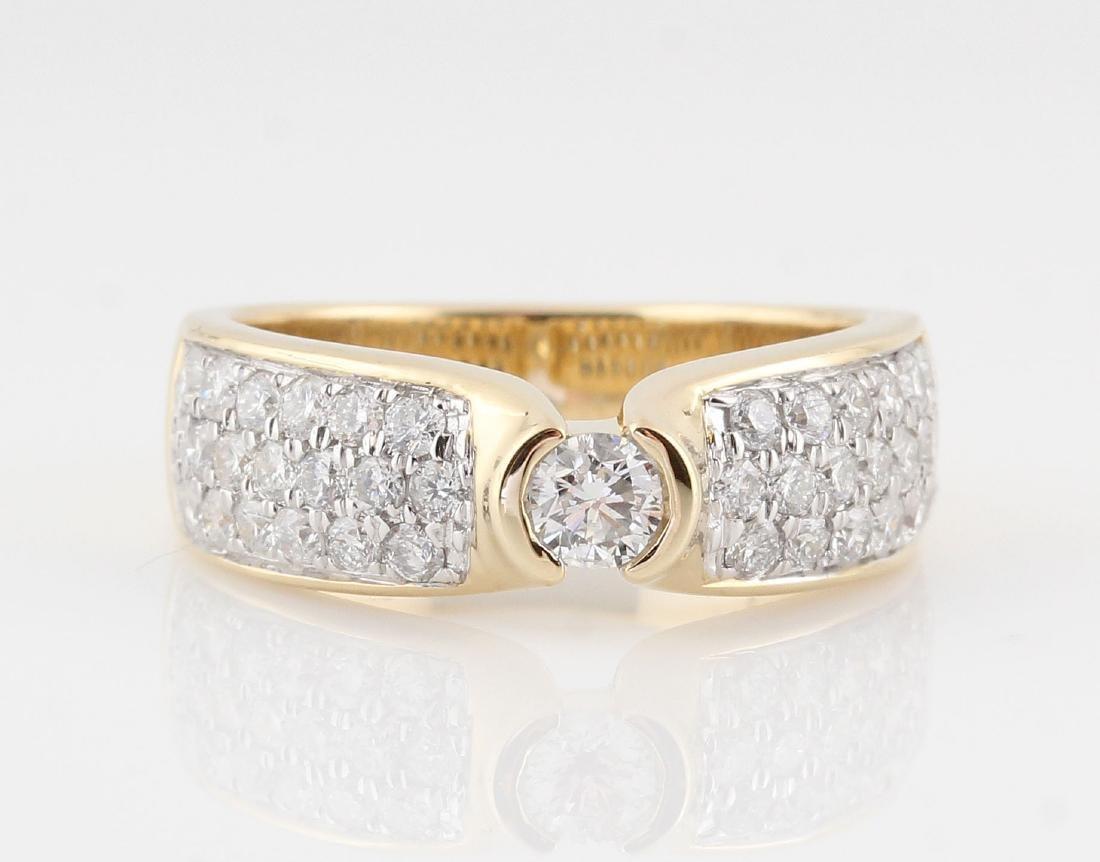 14kt yellow gold diamond ring 0.98ct - 5
