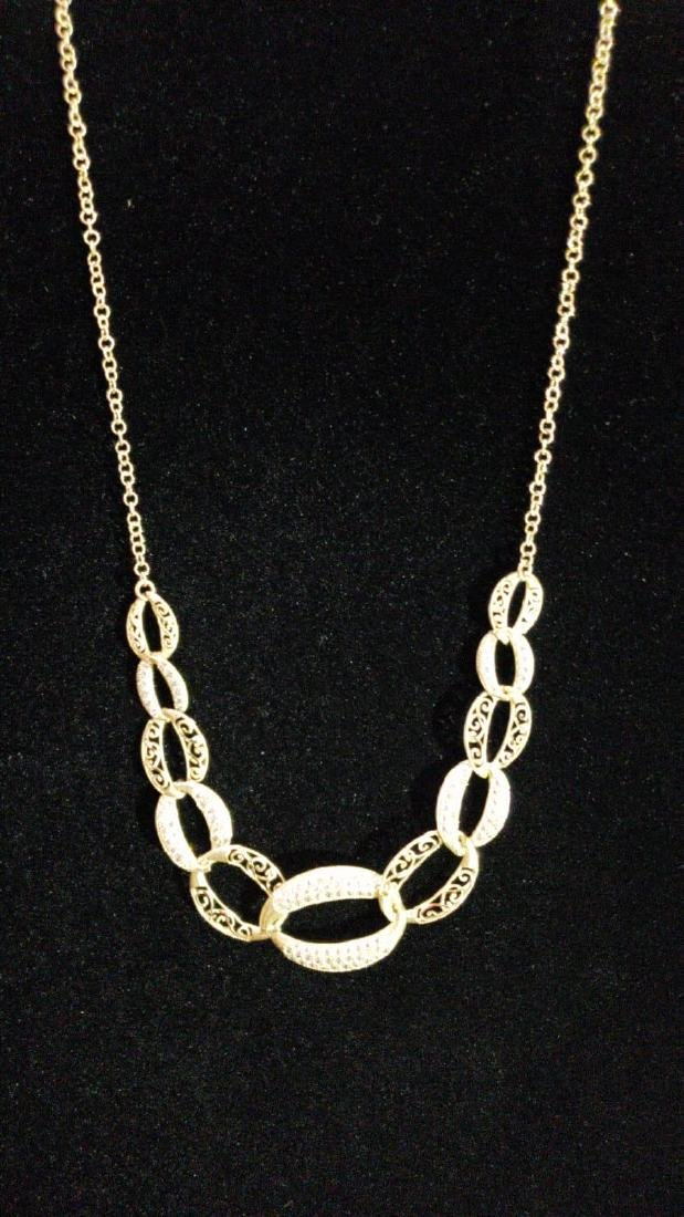 Set of stunning yellow gold necklace 14k with linked - 3