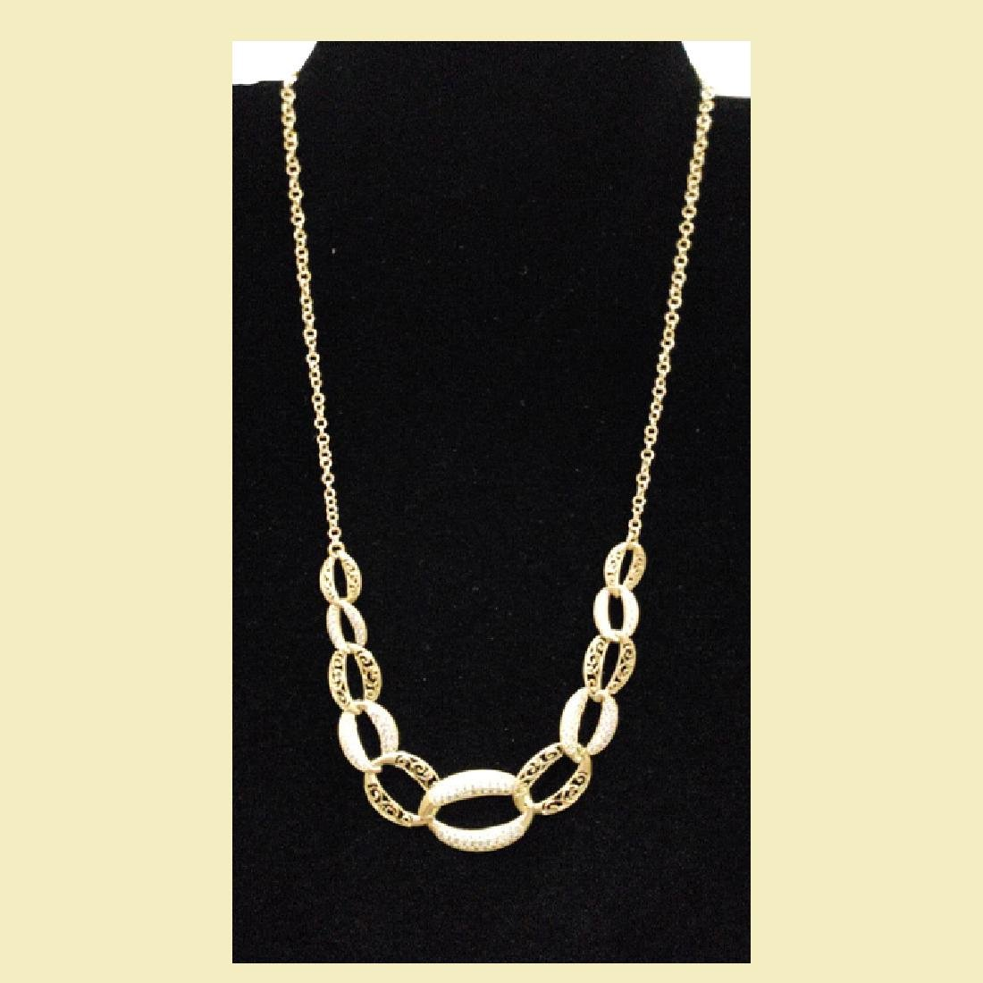 Set of stunning yellow gold necklace 14k with linked - 4