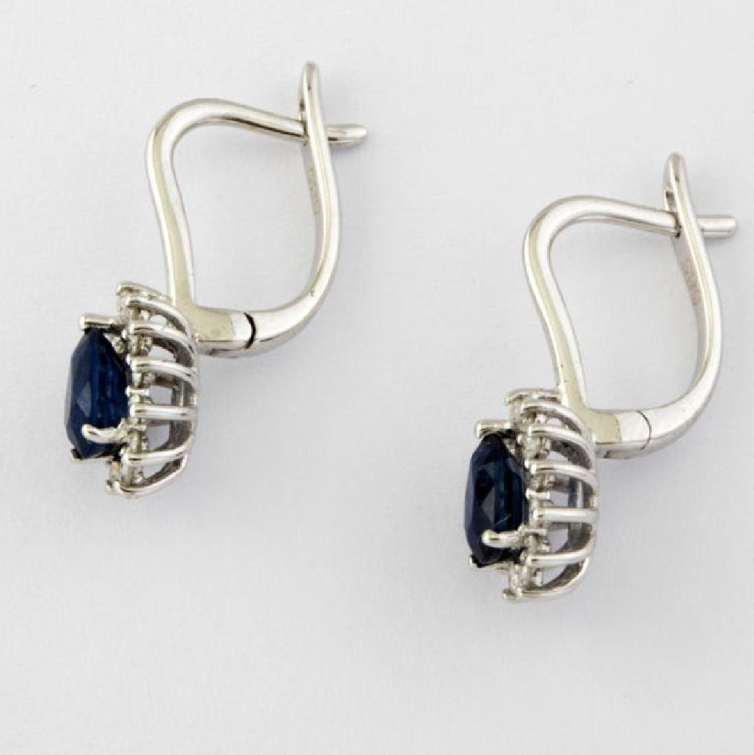 14K Sapphire & Diamond Earring - 6