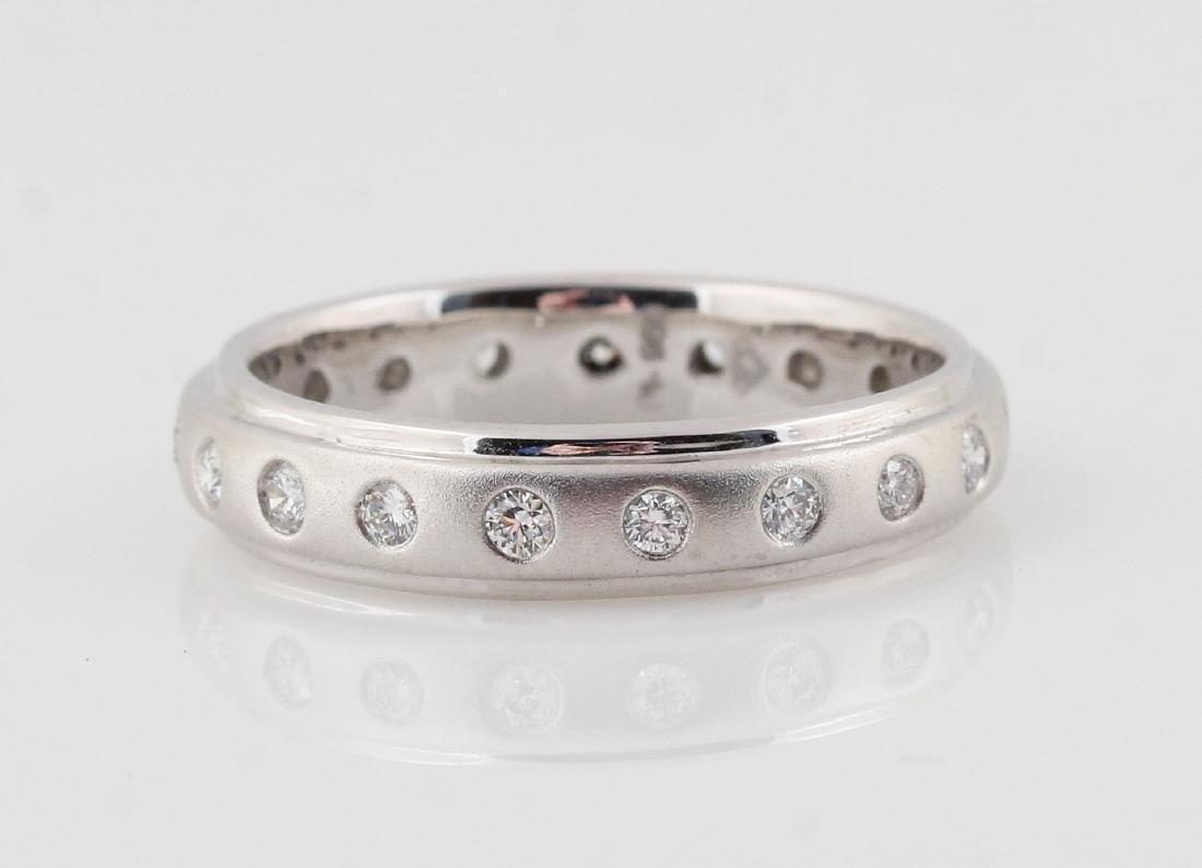 Platina white diamond ring 0.37ct
