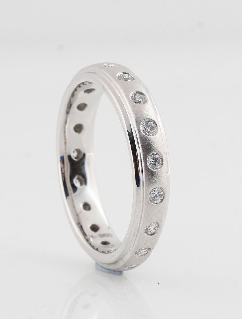 Platina white diamond ring 0.37ct - 2