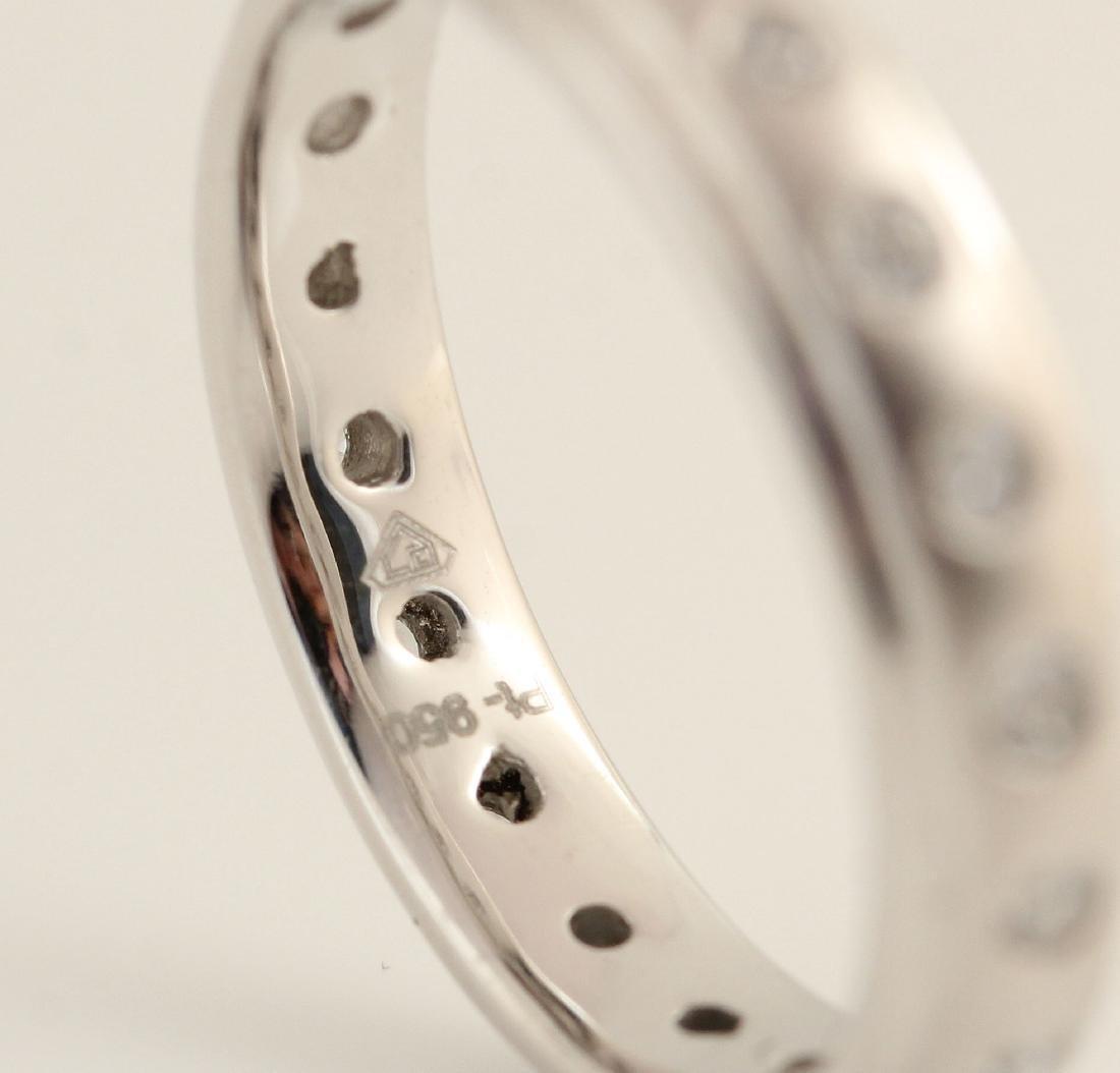 Platina white diamond ring 0.37ct - 3