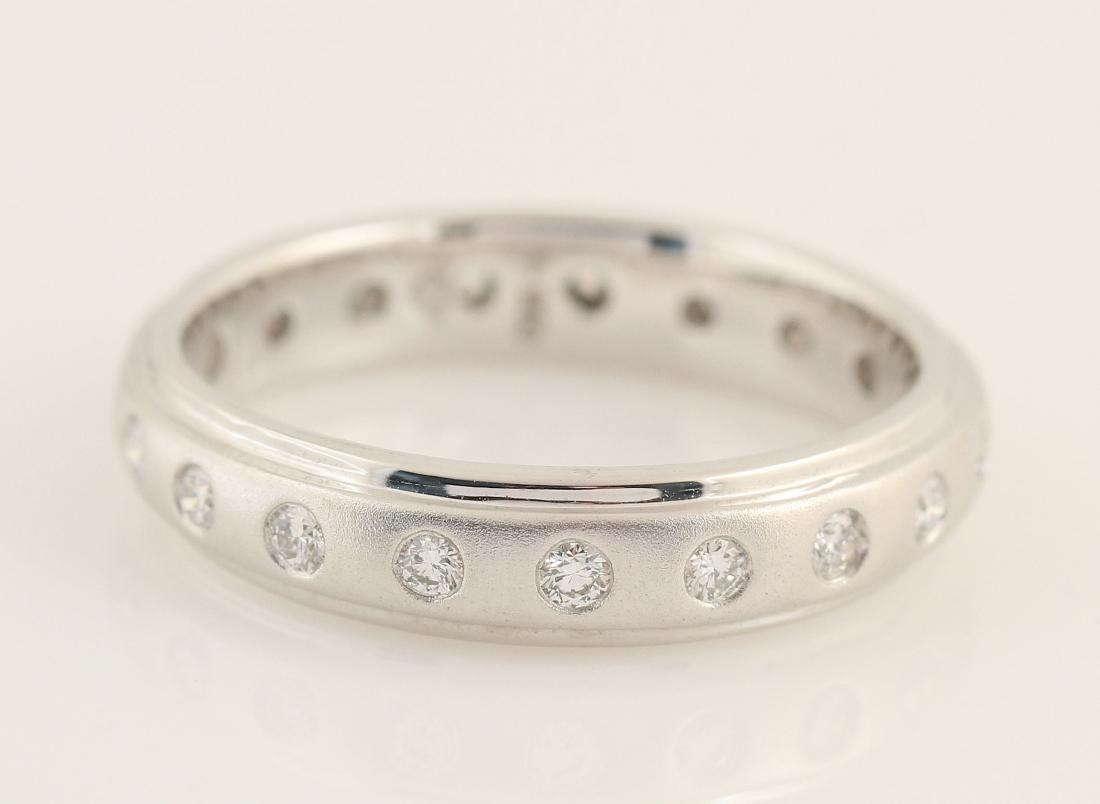 Platina white diamond ring 0.37ct - 4