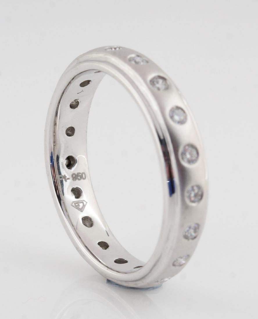 Platina white diamond ring 0.37ct - 5