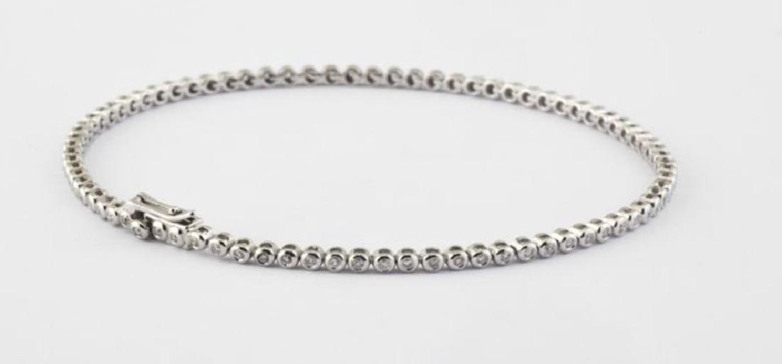 14K 0,45 ct Diamond Tennis Bracelet (Bezel)