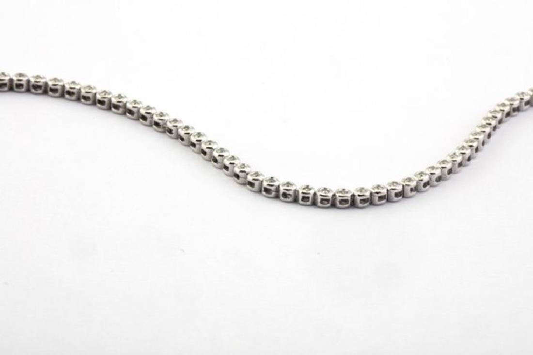 14K 0,45 ct Diamond Tennis Bracelet (Bezel) - 2