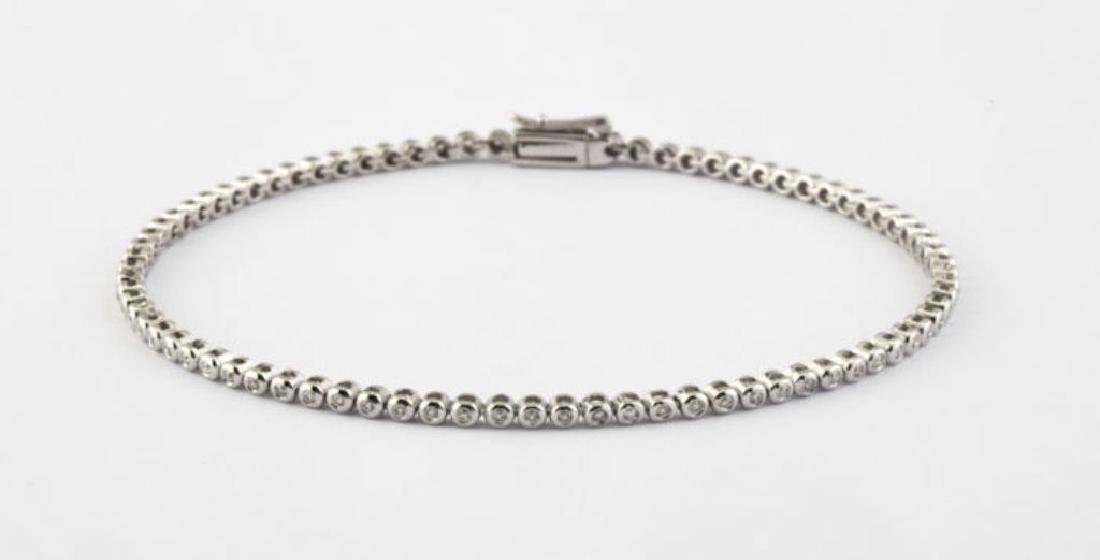 14K 0,45 ct Diamond Tennis Bracelet (Bezel) - 5