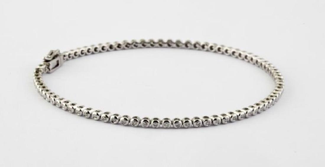 14K 0,45 ct Diamond Tennis Bracelet (Bezel) - 6