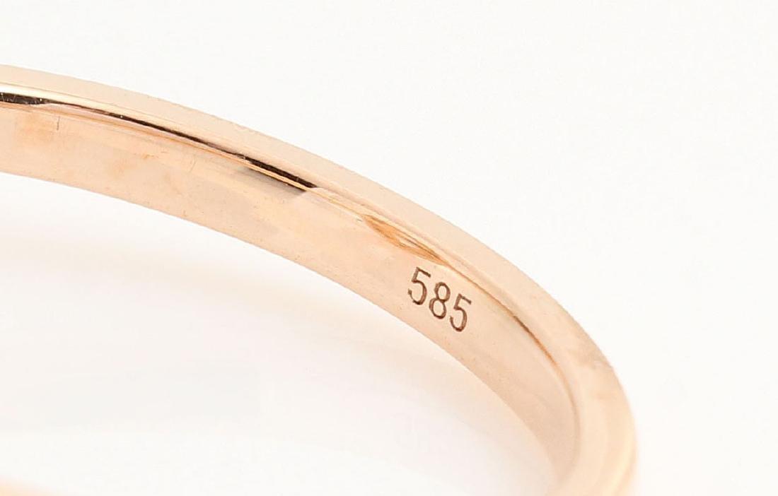 14kt rose gold diamond and morganite ring 0.07ct & - 5