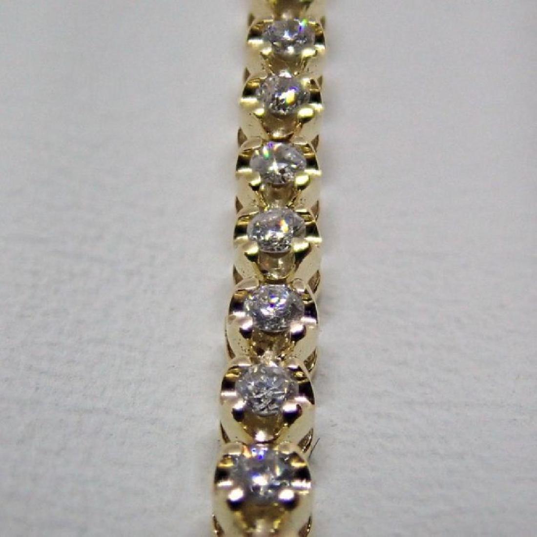 14K 0,91 ct Diamond Tennis Bracelet - 5