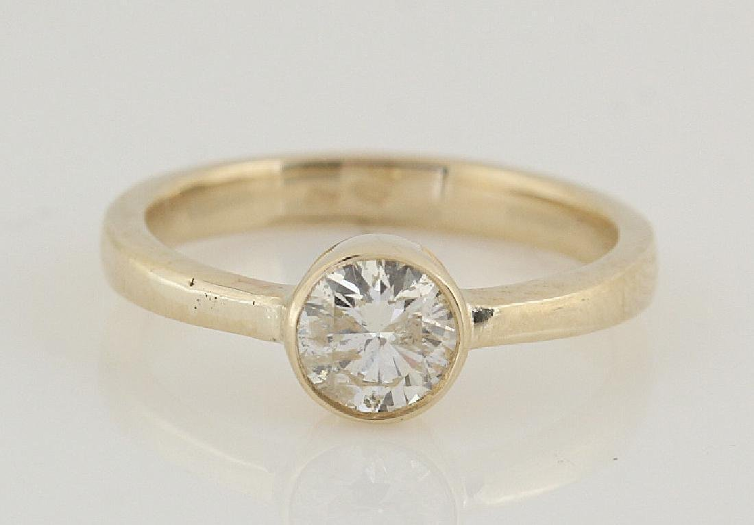 14kt yellow gold diamond solitaire ring 0.50