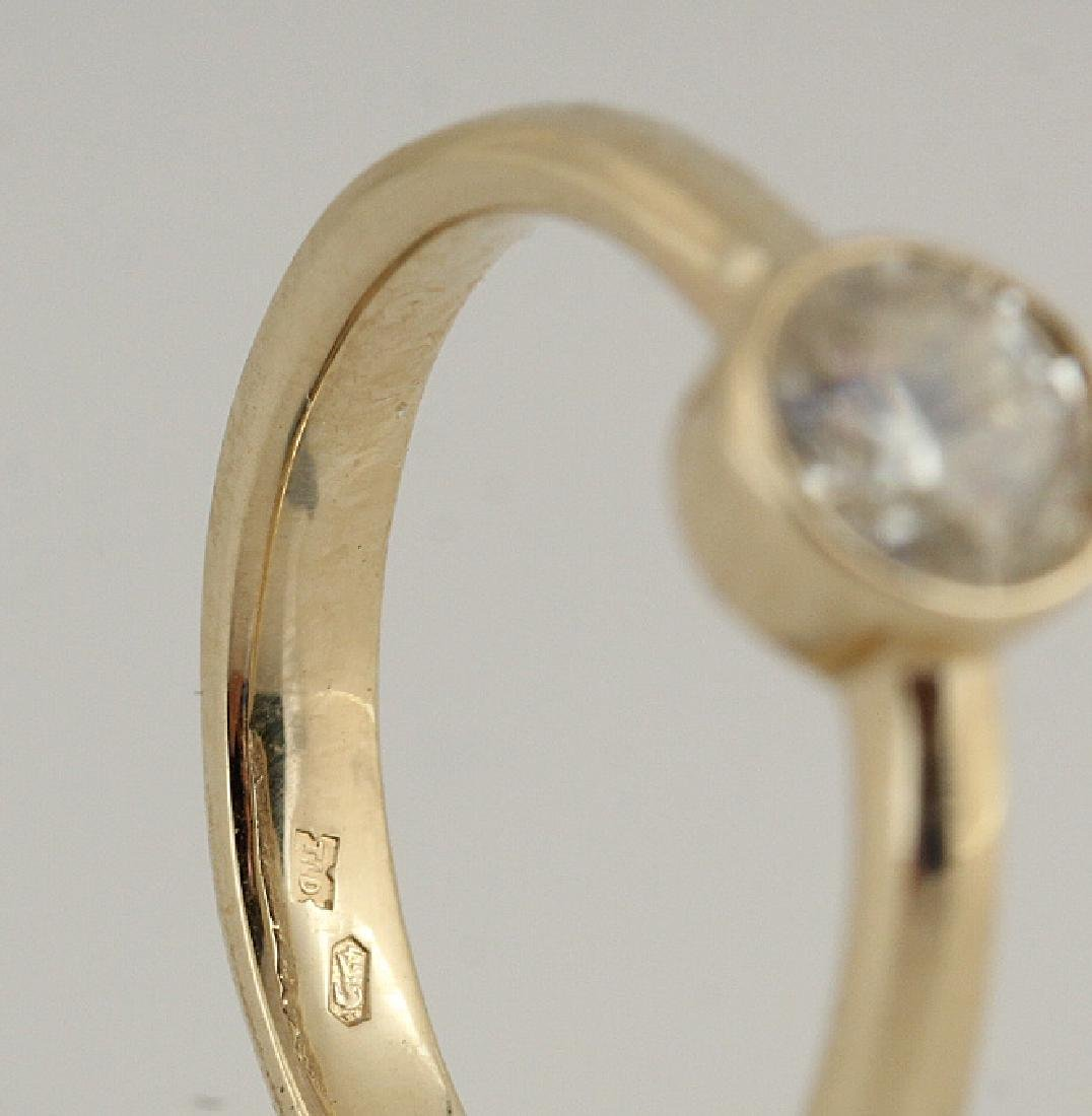 14kt yellow gold diamond solitaire ring 0.50 - 2