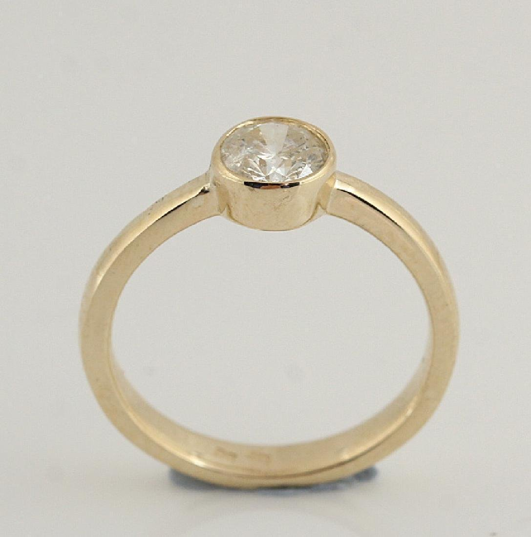 14kt yellow gold diamond solitaire ring 0.50 - 3