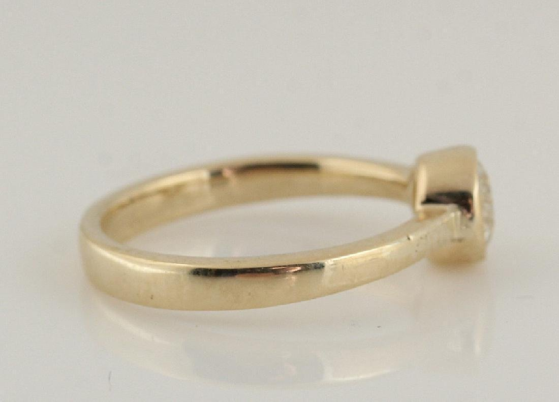 14kt yellow gold diamond solitaire ring 0.50 - 4