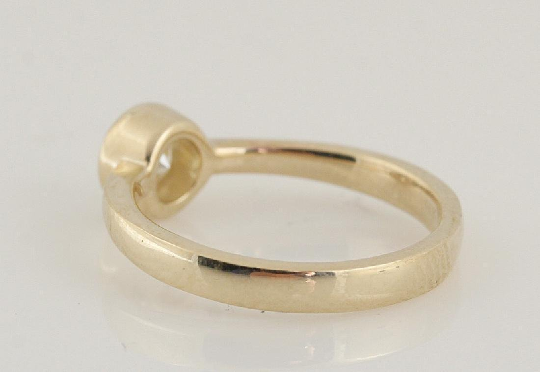 14kt yellow gold diamond solitaire ring 0.50 - 5