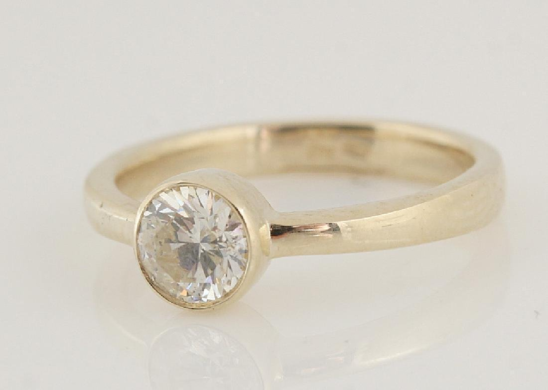 14kt yellow gold diamond solitaire ring 0.50 - 6