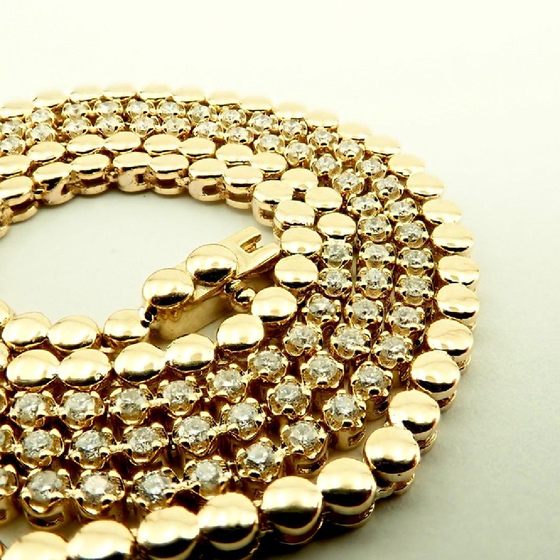 14K 1,20 ct Diamond Tennis Necklace - 2