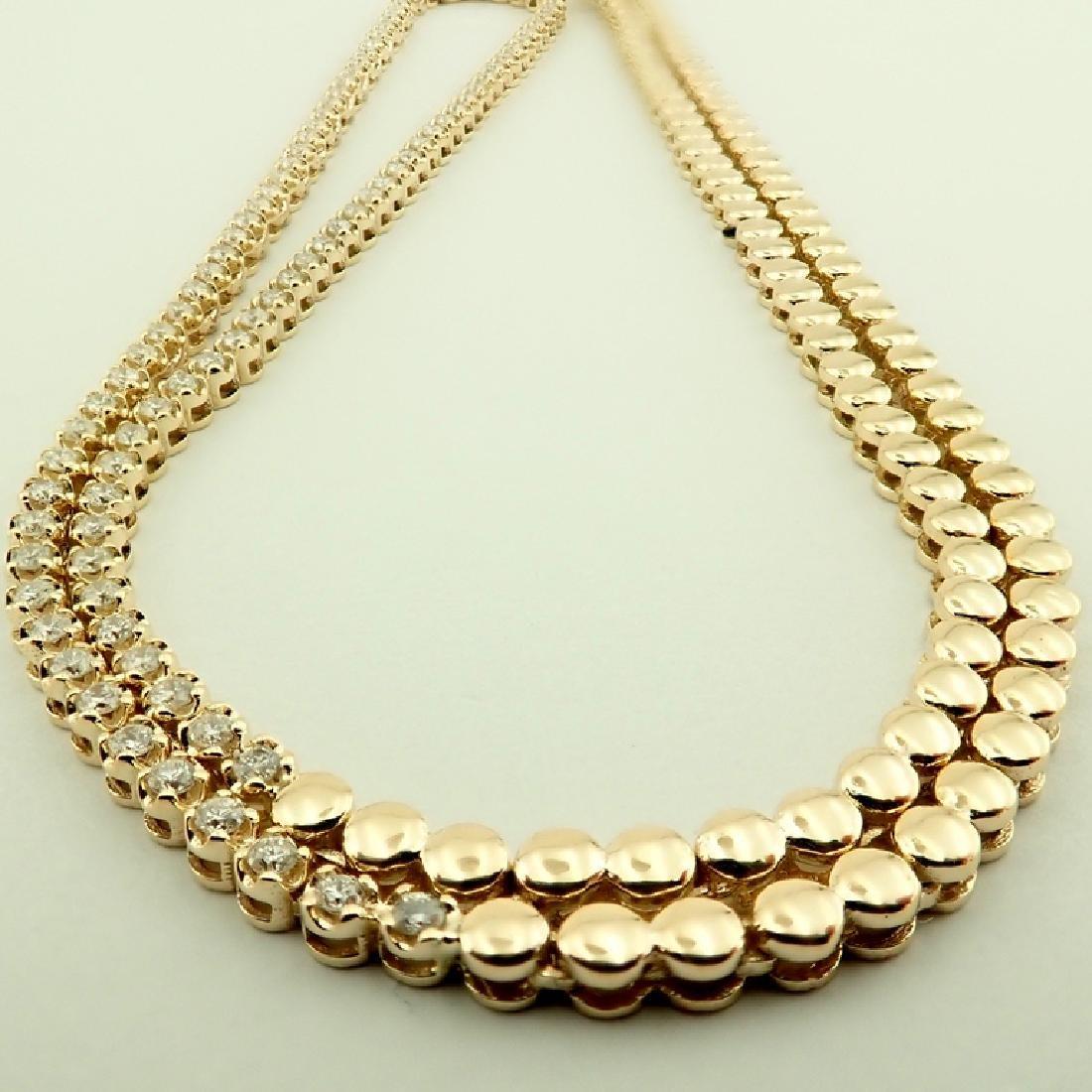 14K 1,20 ct Diamond Tennis Necklace - 3