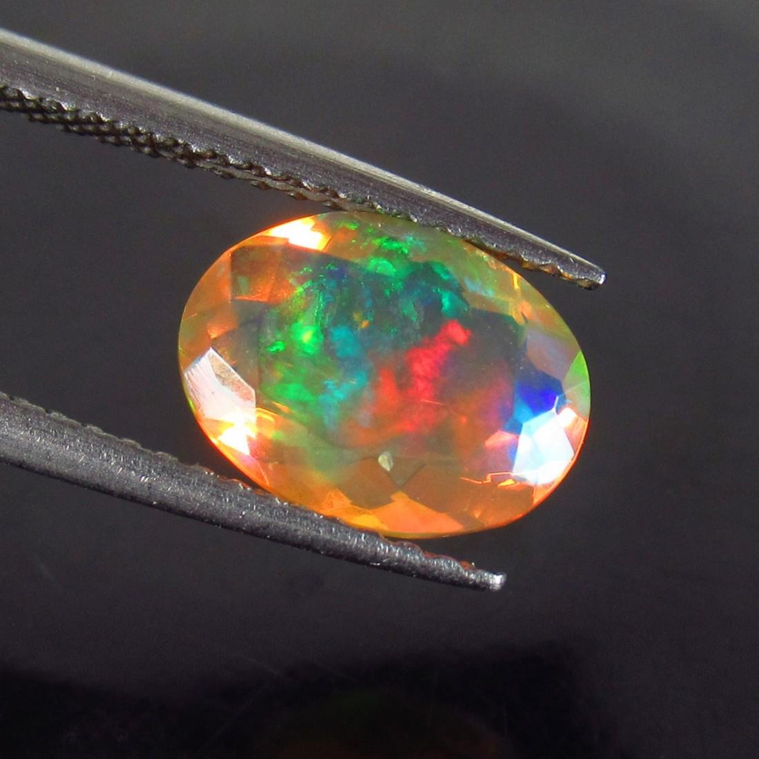1.07 Ctw Natural Ethiopian Faceted Opal Oval cut