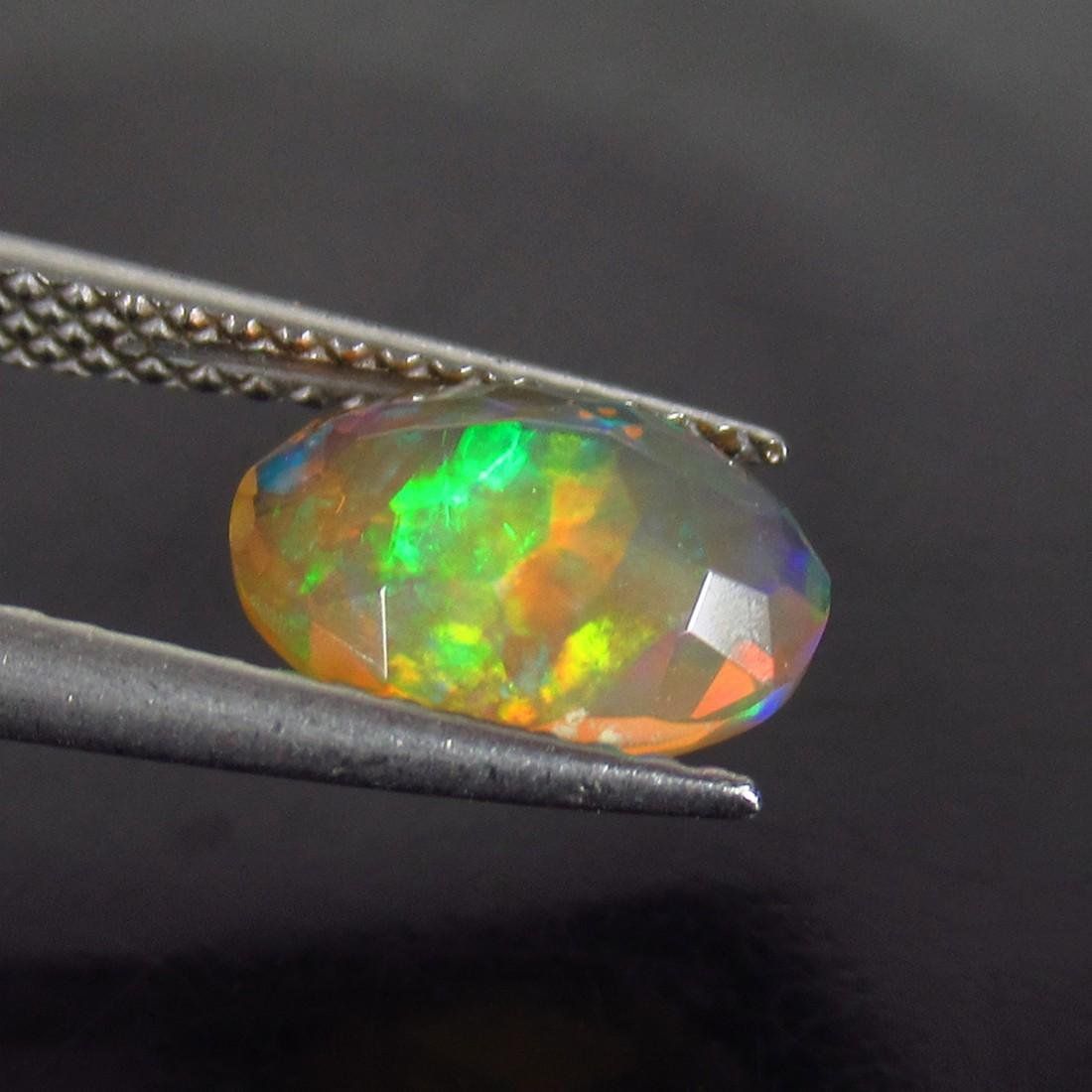 1.07 Ctw Natural Ethiopian Faceted Opal Oval cut - 2