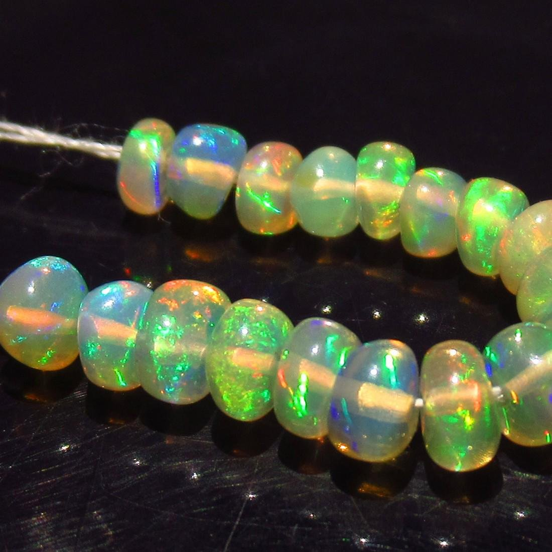 2.84 Ctw Natural 18 Drilled Round Fire Opal Beads