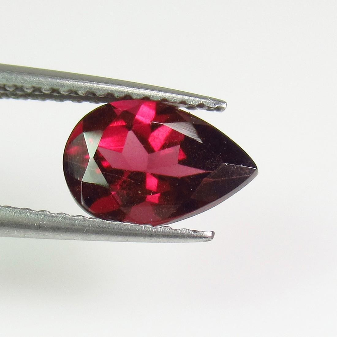 1.66 Ctw Natural Pink Rhodolite Garnet 9X6 mm Pear Cut