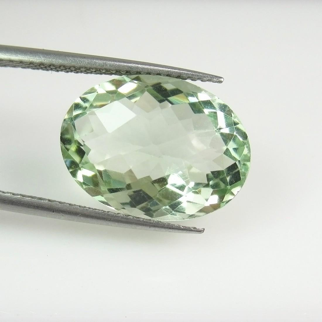 8.82 Ct Genuine Brazil Green Amethyst 16X12 mm Oval Cut