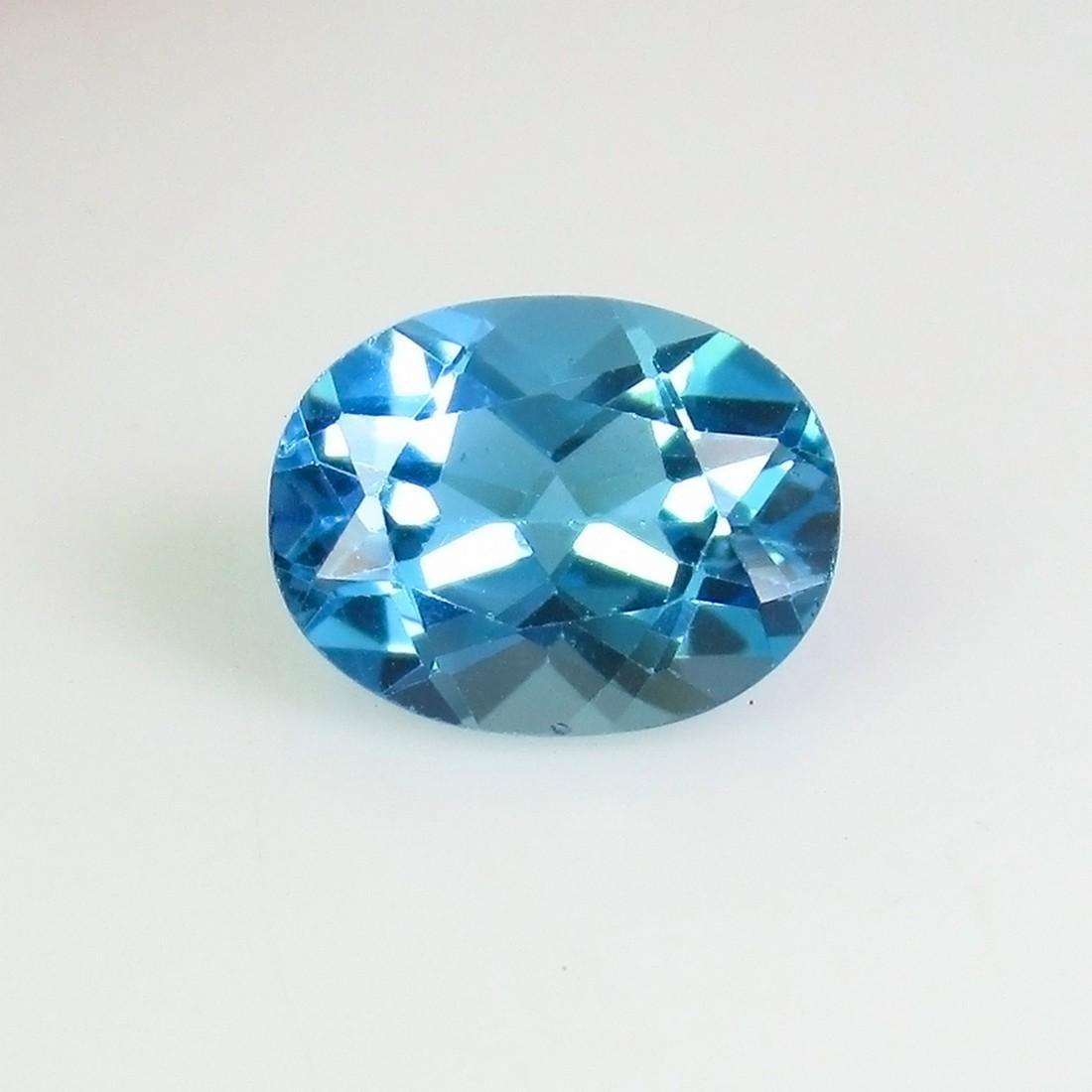 2.26 Ct Genuine Brazil Blue Topaz 9X7 mm Oval Cut