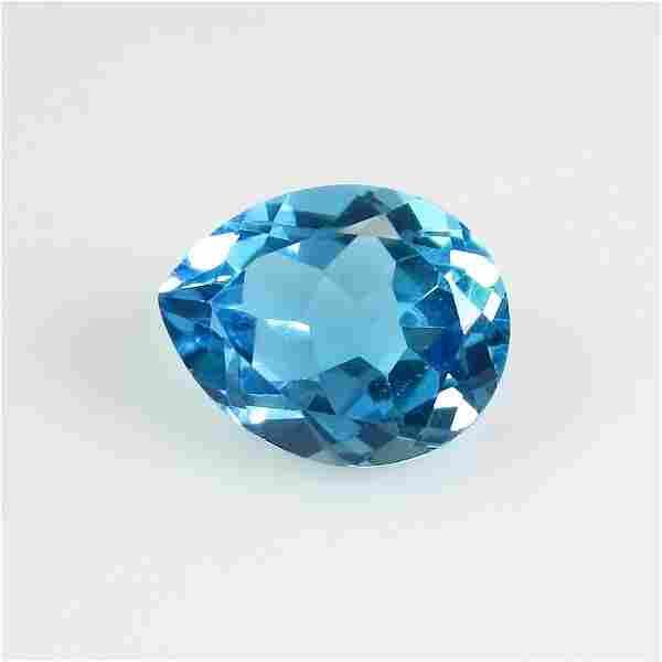 327 Ct Genuine Brazil Blue Topaz 10X8 mm Oval Cut