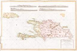 Chastenet-Puységur: Large Hispaniola Chart, 1787