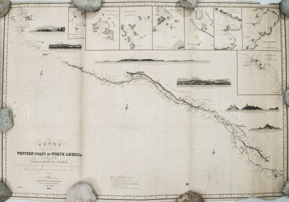 1849 Imray Chart of the Pacific Coast of Mexico to San - 2