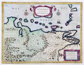 Blaeu: Venezuela, Trinidad, Lesser Antilles