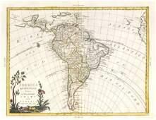 America Meridionale divisa. South America . ZATTA 1785