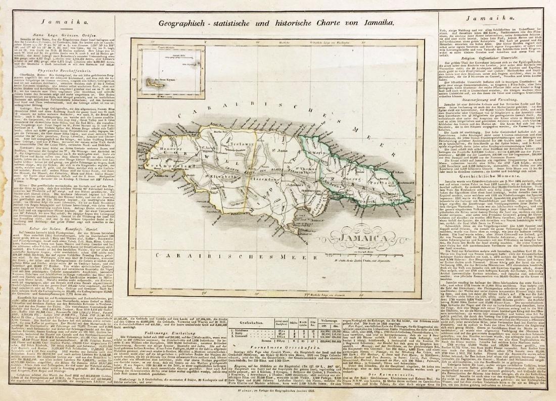 Geograph. Institut:  Encyclopedic Map of Jamaica - 2