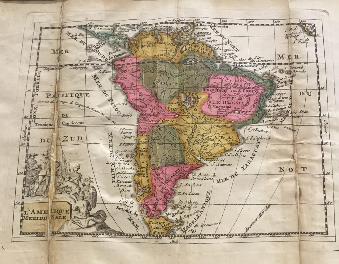 Rare map of South America