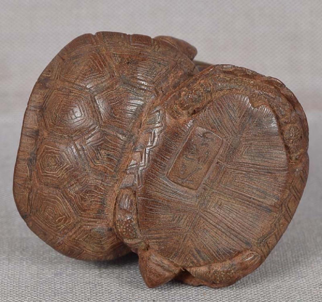 19c netsuke TURTLES by female carver TADAJIKO - 5
