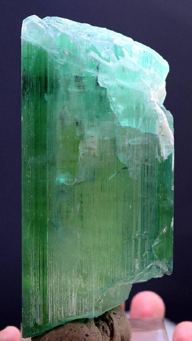 Top Quality terminated & Undamaged Green-Color Kunzite