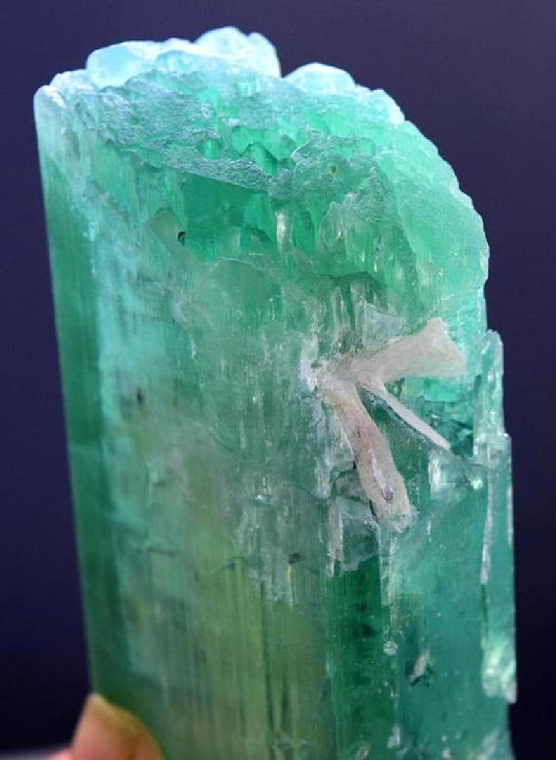 Top Quality terminated & Undamaged Green-Color Kunzite - 3