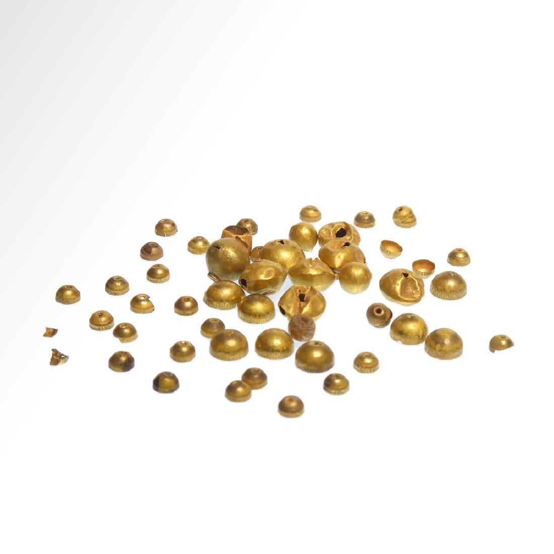 Forty-nine Roman Gold Beads, c. 1st Century A.D.
