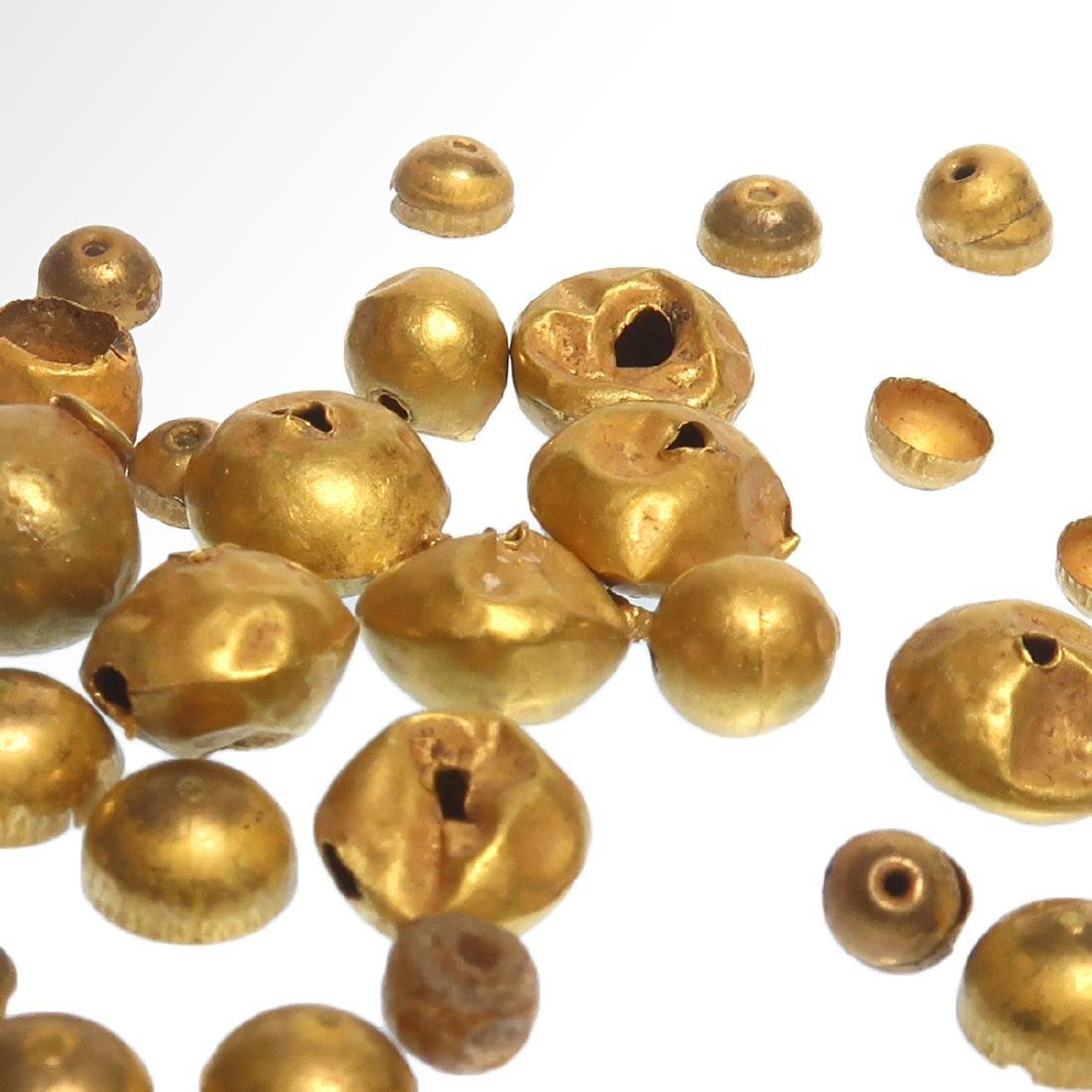 Forty-nine Roman Gold Beads, c. 1st Century A.D. - 4
