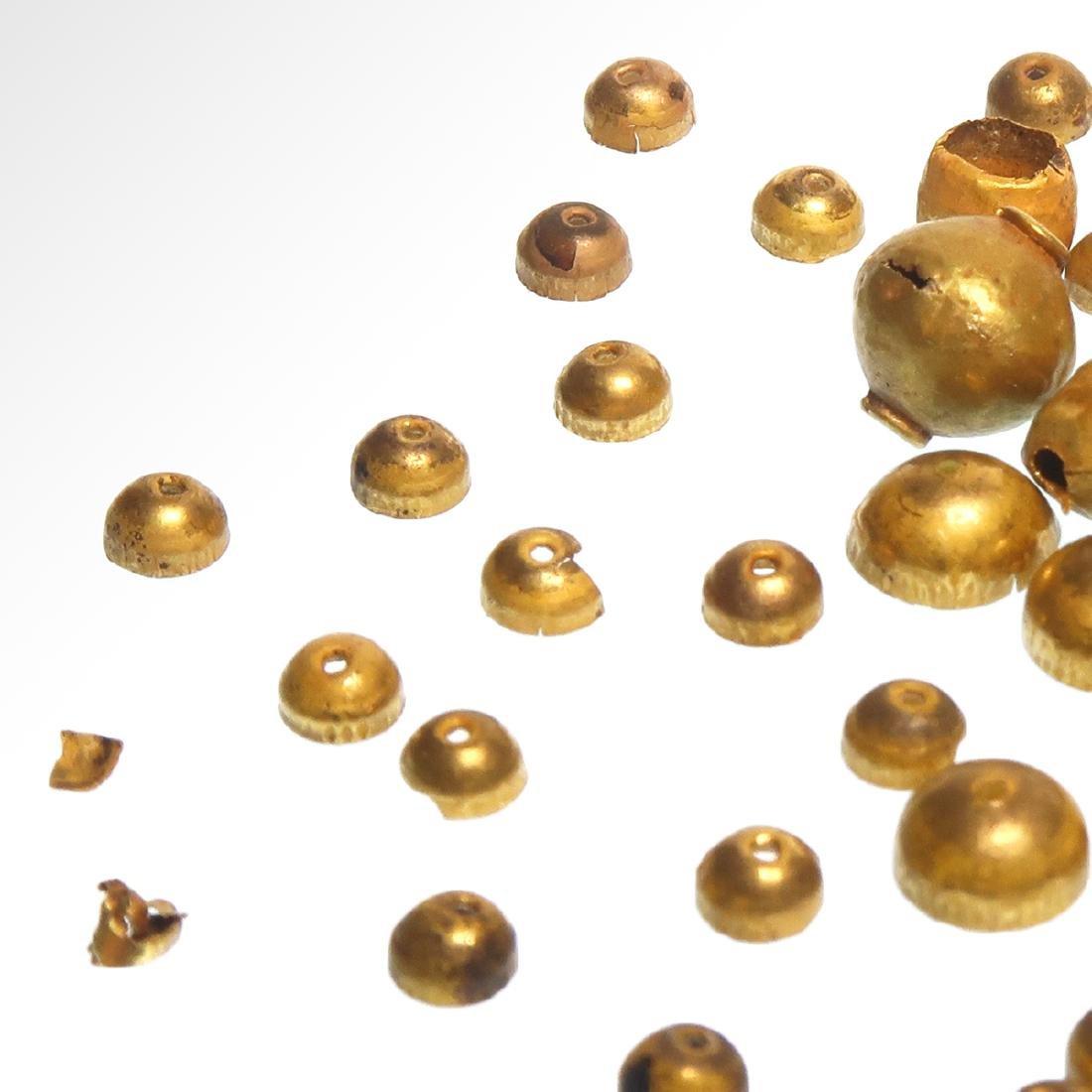 Forty-nine Roman Gold Beads, c. 1st Century A.D. - 5