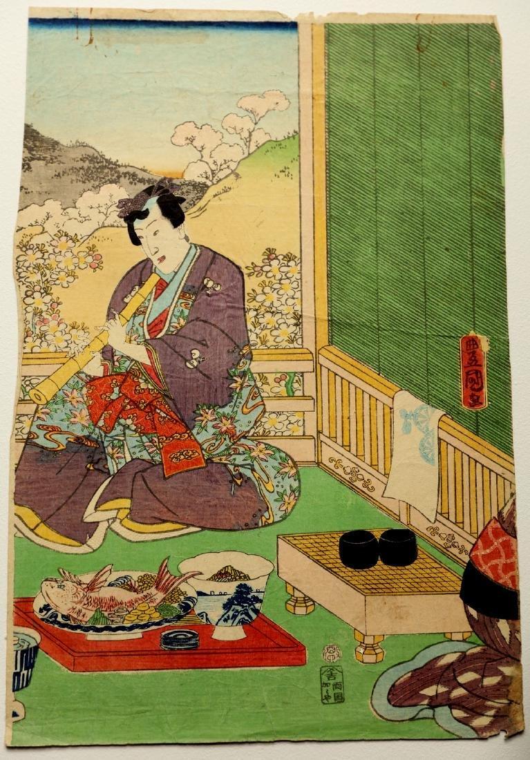 Utagawa Kunisada (1861) -  Theater scene