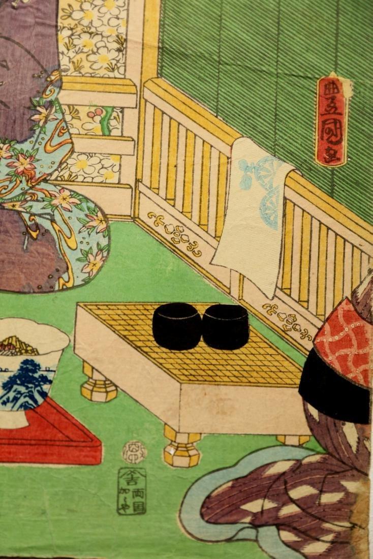 Utagawa Kunisada (1861) -  Theater scene - 5