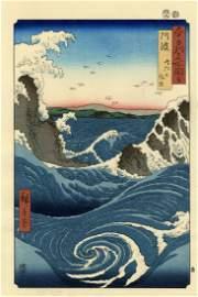 Hiroshige Ando - Angry Sea at Naruto