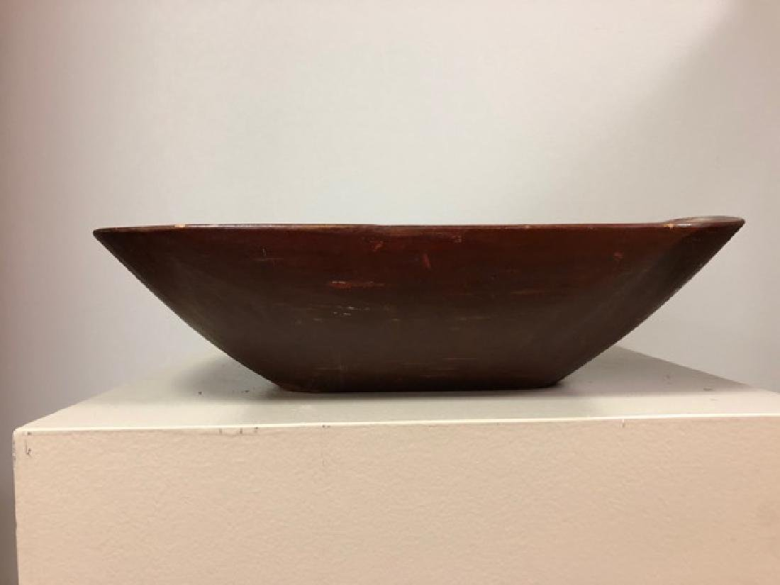 Small Red Painted Bowl - New England