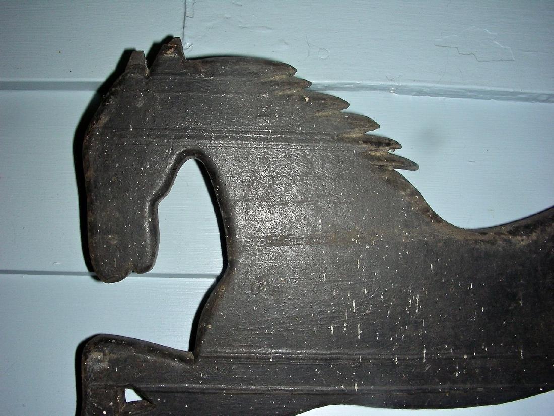 Wooden Running Horse Weathervane Fragment - 5
