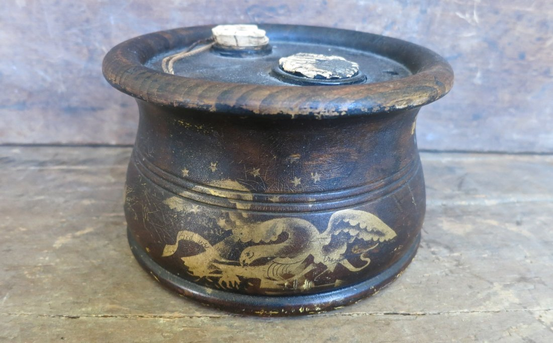 Large 19th C Silliman & Co Inkwell With American Eagle